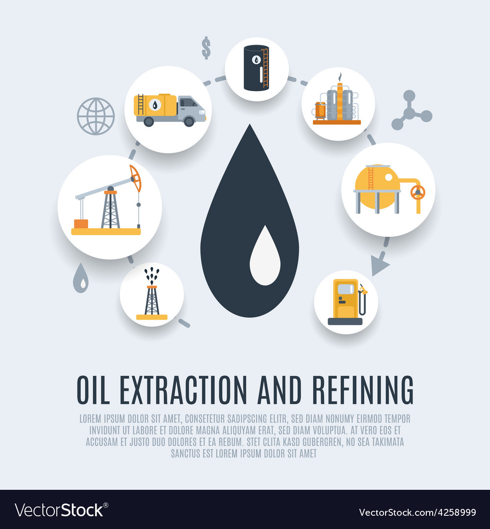 Oil industry flat icon vector   Price: 1 Credit (USD $1)