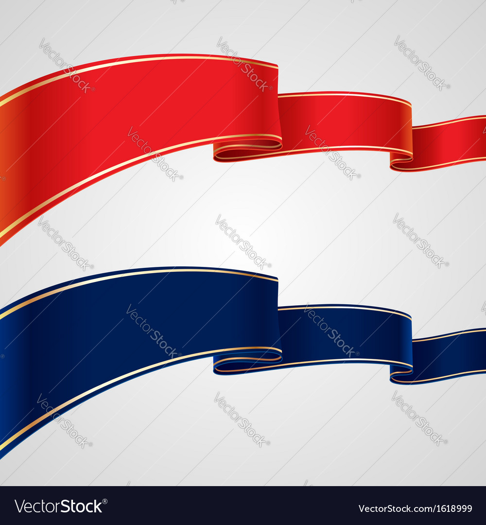 Red blue ribbons vector | Price: 1 Credit (USD $1)