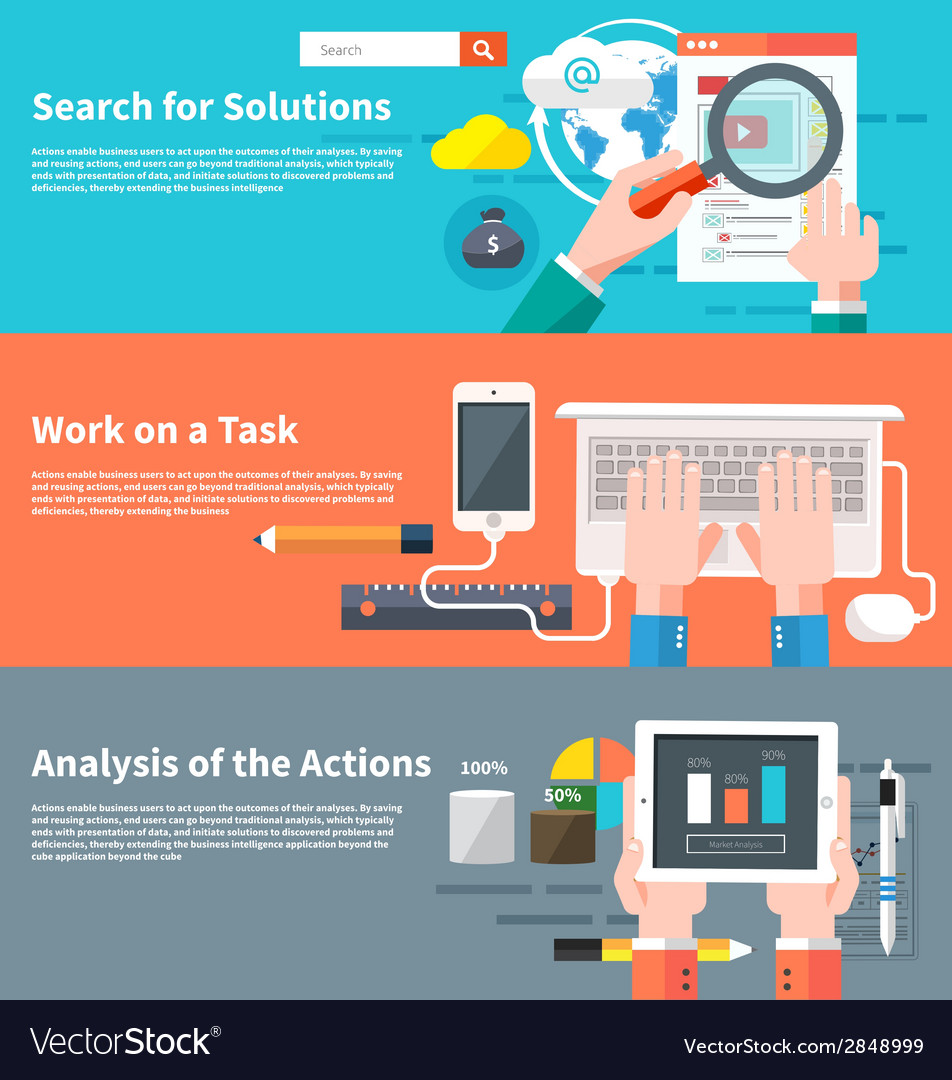 Search for solutions infographic vector | Price: 1 Credit (USD $1)
