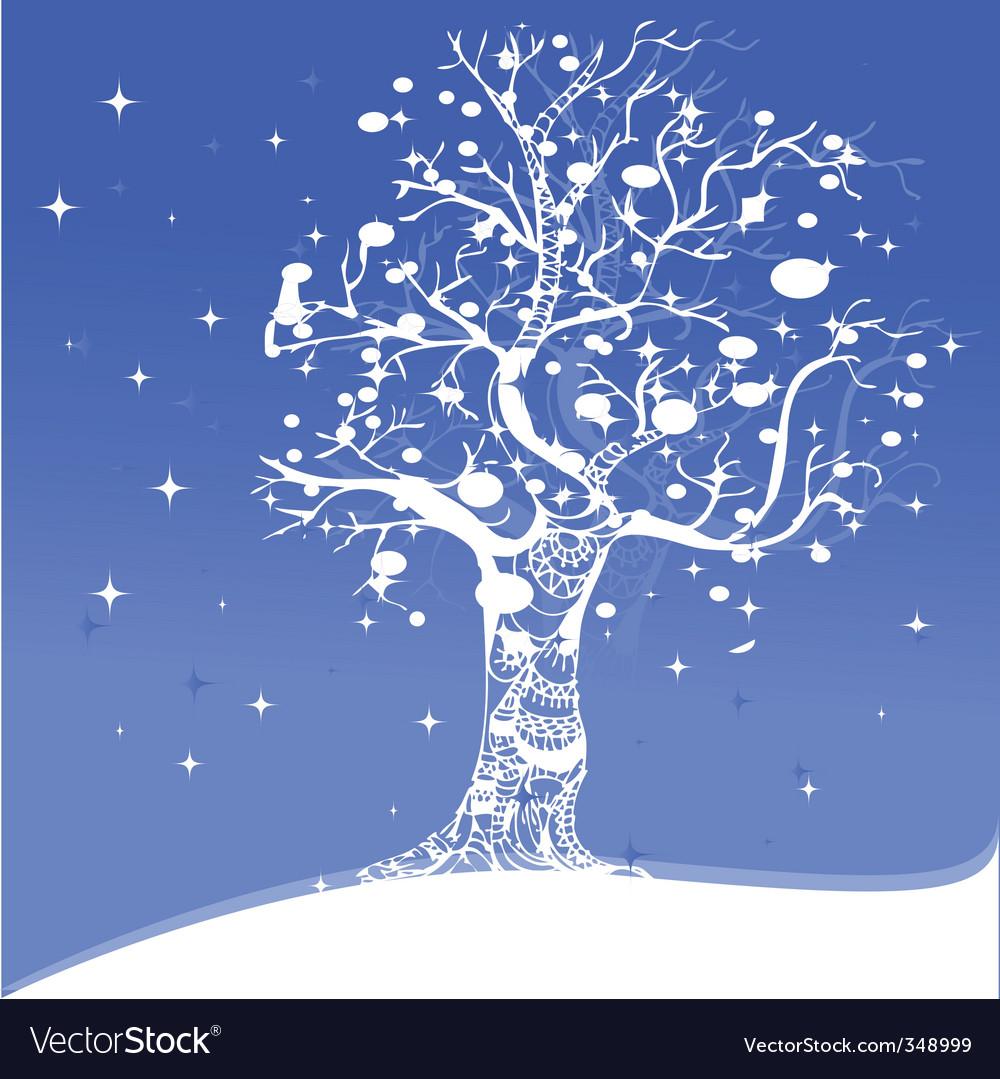 Snowflake tree vector | Price: 1 Credit (USD $1)