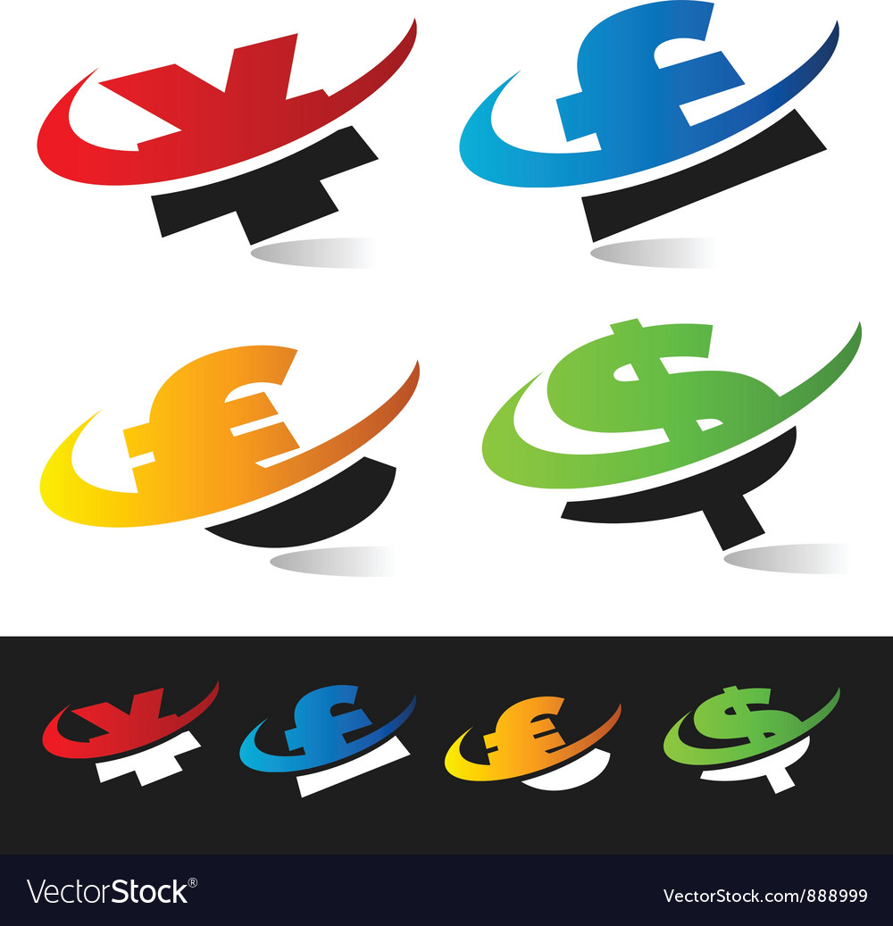Swoosh currency logo symbols vector | Price: 1 Credit (USD $1)