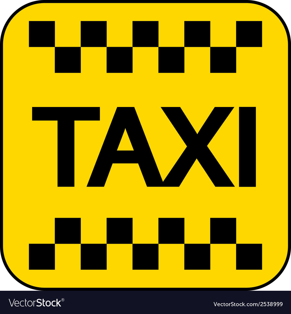 Taxi button vector | Price: 1 Credit (USD $1)