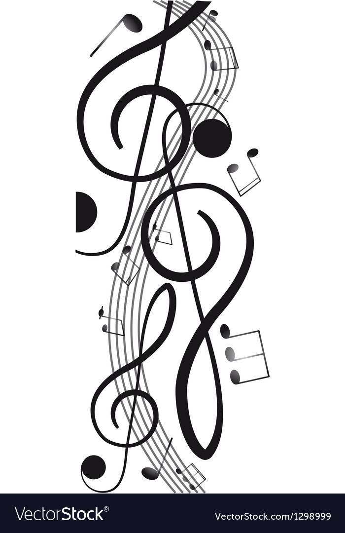 Treble clef for your design a vector | Price: 1 Credit (USD $1)