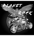Planet rock vector