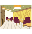 Restaurant interior background vector