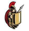 Roman soldier with big shield vector