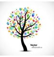 Colorful abstract oak tree vector