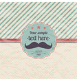 Hipster retro label with mustache vector