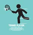 Tennis player black graphic symbol vector