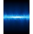 Sound waves oscillating on black eps 8 vector