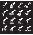 Hand concept icons white vector