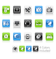 Communication icons clean series vector