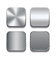 Apps metal icon set vector