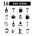 Set of bar drinks and beverages icons vector