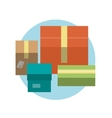 Set of colorful gift boxes with ribbons in flat vector