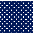 Seamless pattern - blue with white polka dots vector