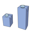 Milk carton with screw cap vector