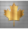 Leaf of gold vector