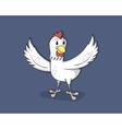 Happy cartoon chicken vector