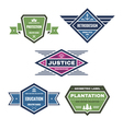 Five original vintage badges vector
