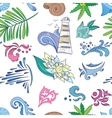 Travel sea colorful pattern vector