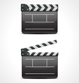 Clap board cinema icon vector