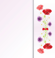 Bouquet of flowers on colorful background vector