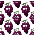 Bunch of purple grapes seamless pattern vector
