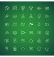 Thin icons on the theme of soccer vector