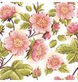 Romantic feminine seamless texture with flowers vector