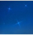 Blue evening skyes with stars vector
