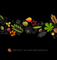 Autumn abstract floral background with place for vector