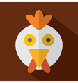 Modern flat design chicken icon vector