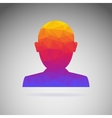 Silhouette of a person conceptual icon vector