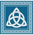 Ancient symbol triskel traditional celtic design vector