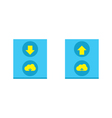 Cloud download and upload icon 16 vector