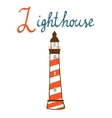 L is for lighthouse vector