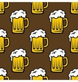 Beer tankards seamless pattern vector