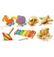 Wooden toys vector