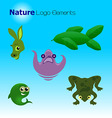 Nature logo elements vector