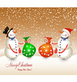 Snow men red bag isolated on a white background vector