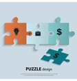Piece of jigsaw puzzle showing business equation vector