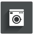 Washing machine icon wash machine symbol vector