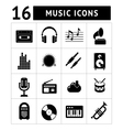 Set icons of music and sound vector