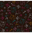 Hand draw texture - seamless pattern with hearts vector