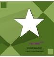 Star flat modern web design on a flat geometric vector