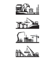 Various types of construction scenes vector