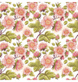 Romantic feminine seamless texture with flowers vector