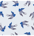 Abstract seamless with swallows vector