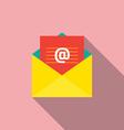 Flat design e-mail icon vector